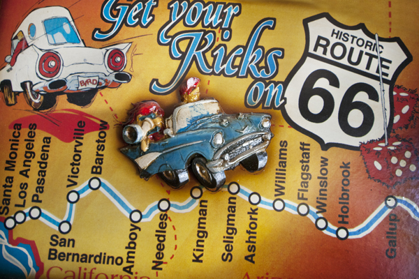 Relief map inside the Historic Route 66 museum. | Photo: Douglas McCulloh