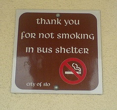 A smoking sign in SLO