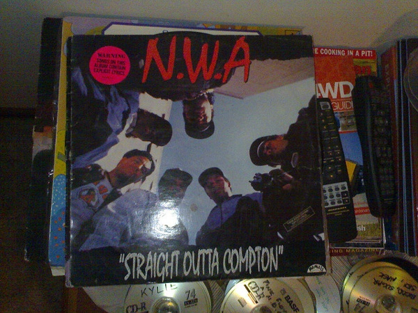 N.W.A's 'Straight Outta Compton' record from 1988.