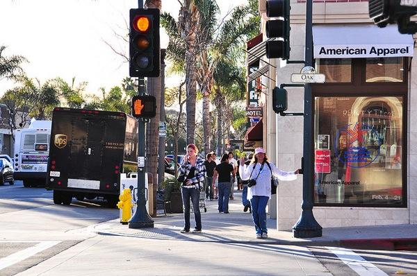 On Main Street in Ventura, CA.