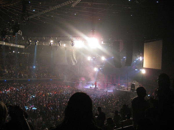 A concert inside The Forum, which reopens in January.