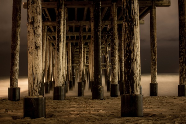 Under the Ventura Pier. | Photo: Courtesy Joe Spota