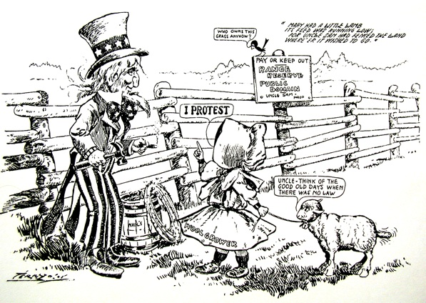 This political cartoon first appeared in the Newark Evening News in Feb. 1910