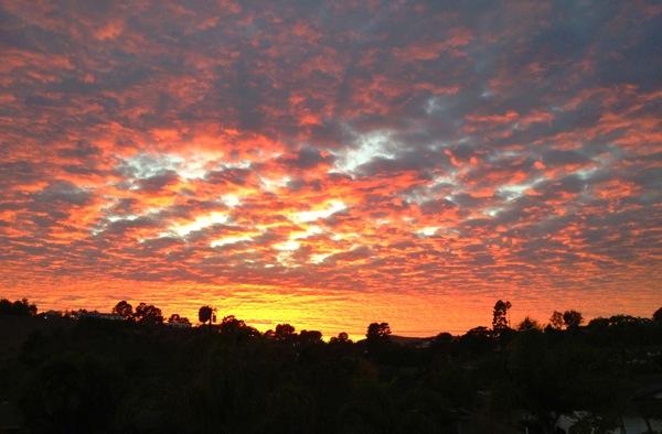 A sunset seen in Ventura, CA.   Photo: Hank Tovar