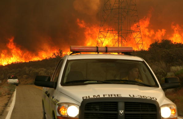 The Station Fire rages in Acton | Photo by Justin Sullivan/Getty Images