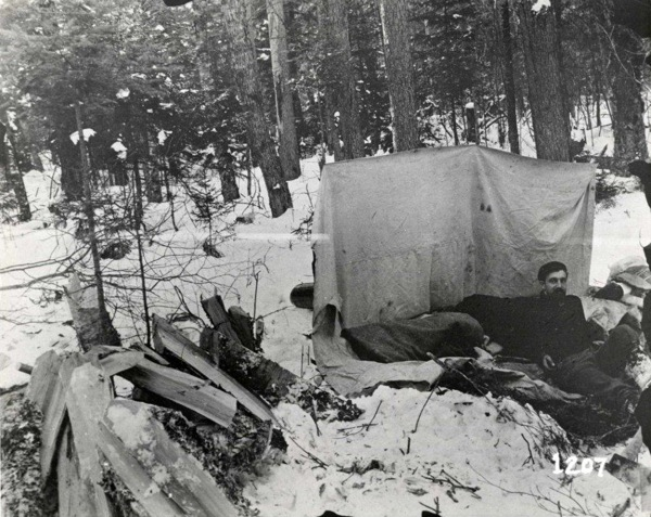 Gifford Pinchot camping in woods in Adirondacks. | Photo: Courtesy Grey Towers National Historic Site