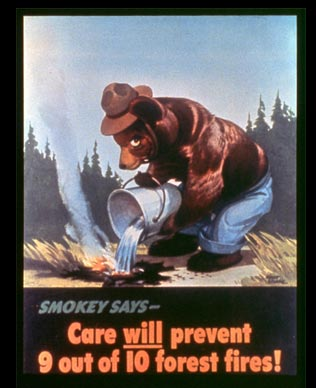 The debut poster for Smokey the Bear | Image via USFS