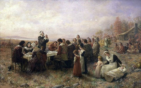 The First Thanksgiving at Plymouth, Jennie A. Brownscombe