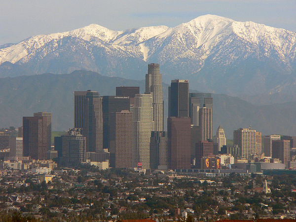 San Gabriel Mountains and Los Angeles Sky Line | Photo by USFS Region 5
