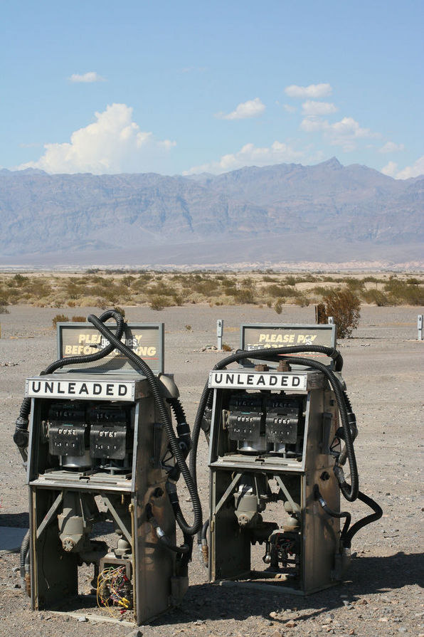 Dead gas pumps in Stovepipe Wells, Death Valley National Park | Chris Clarke photo