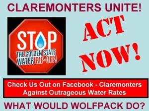 Lawn sign | Image: Claremonters Against Outrageous Water Rates on Facebook