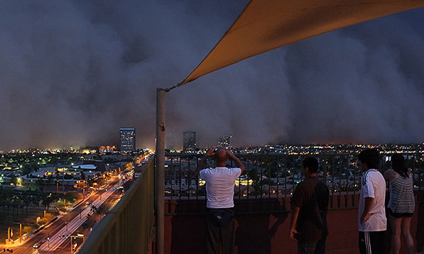 Phoenicians watch the dust storm approach | Creative Commons photo by Christopher Marks