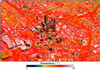 The Heat Island Effect on Atlanta | Image via UCLA