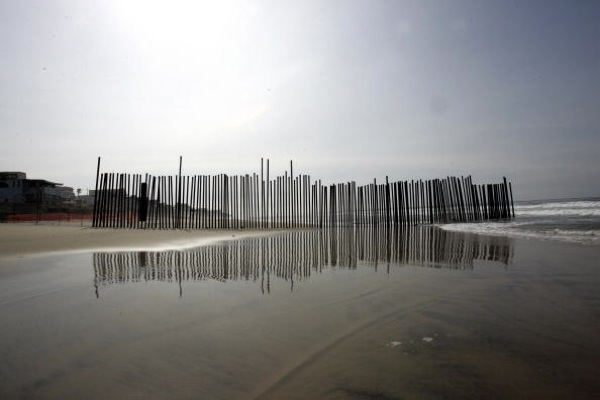 The Imperial Beach border fence in 2006 | HECTOR MATA/AFP/Getty Images