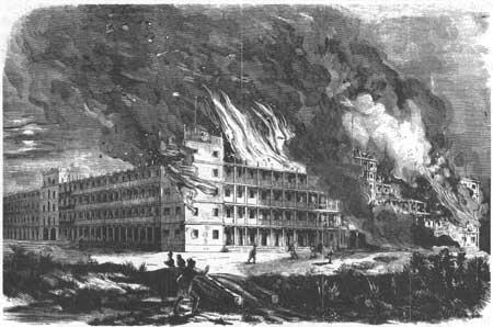 Mount Vernon Hotel Fire, Cape May. | Image: National Park Service via Frank Leslie's Illustrated Newspaper/September 20, 1856