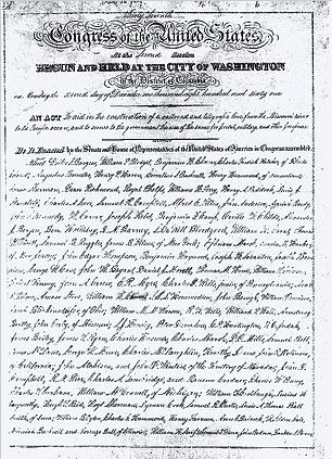 First page of the original manuscript of the Pacific Railroad Act of 1862 signed by President Lincoln on July 1, 1862 | Source: U.S. National Archives
