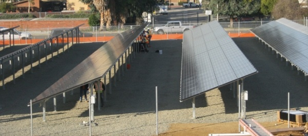 Solar panels installed by REC Solar at a U.S. Forest Service building in San Dimas, CA | Photo: Courtesy REC Solar