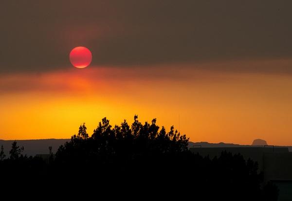 An Arizona sunset seen through smoke from the Wallow Fire