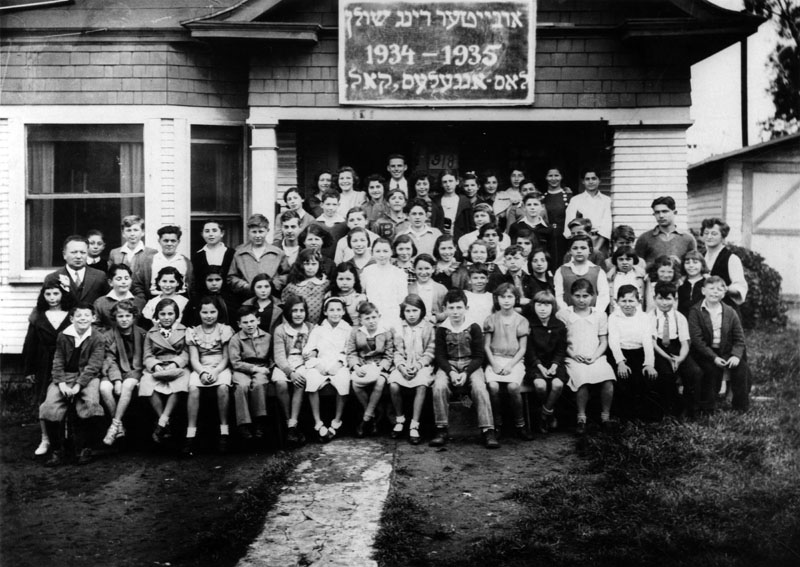 Workman's Circle School's Jewish Ameriacn students pictured in 1935 in Boyle Heights, Los Angeles. |