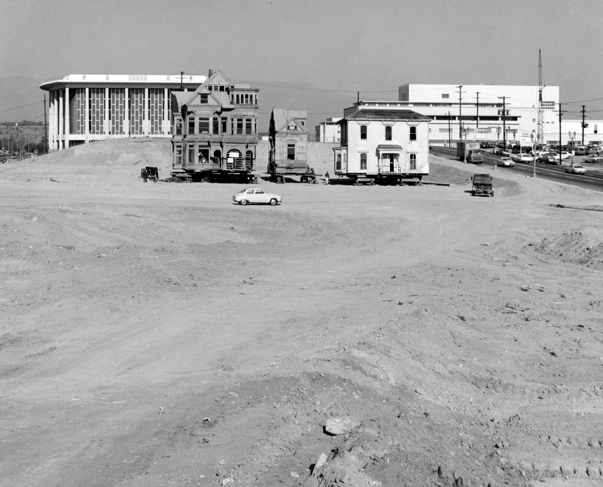 the lost hills of downtown los angeles kcet two remnants of bunker hill their surroundings completly transformed by regrading prepare for relocation