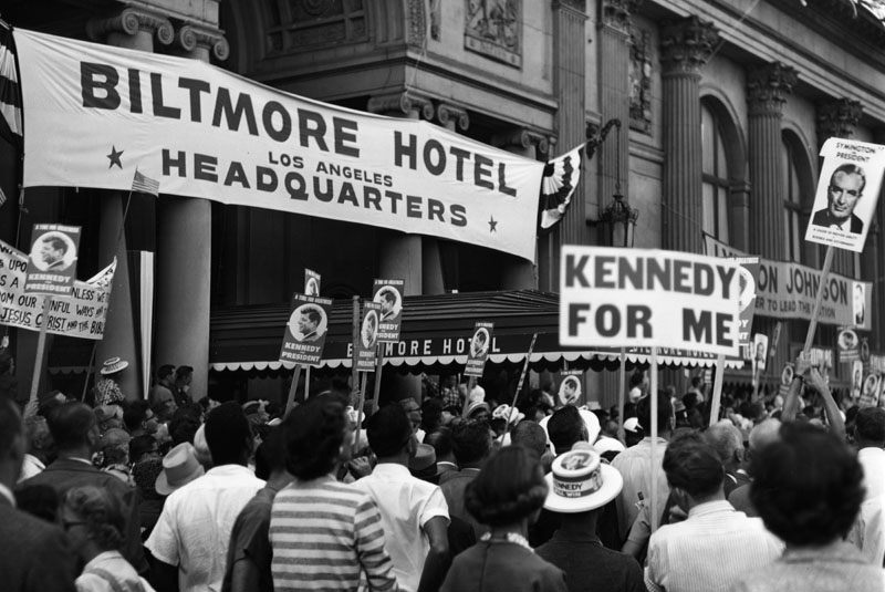 The Biltmore Hotel as the headquarters for the 1960 Democratic National Convention