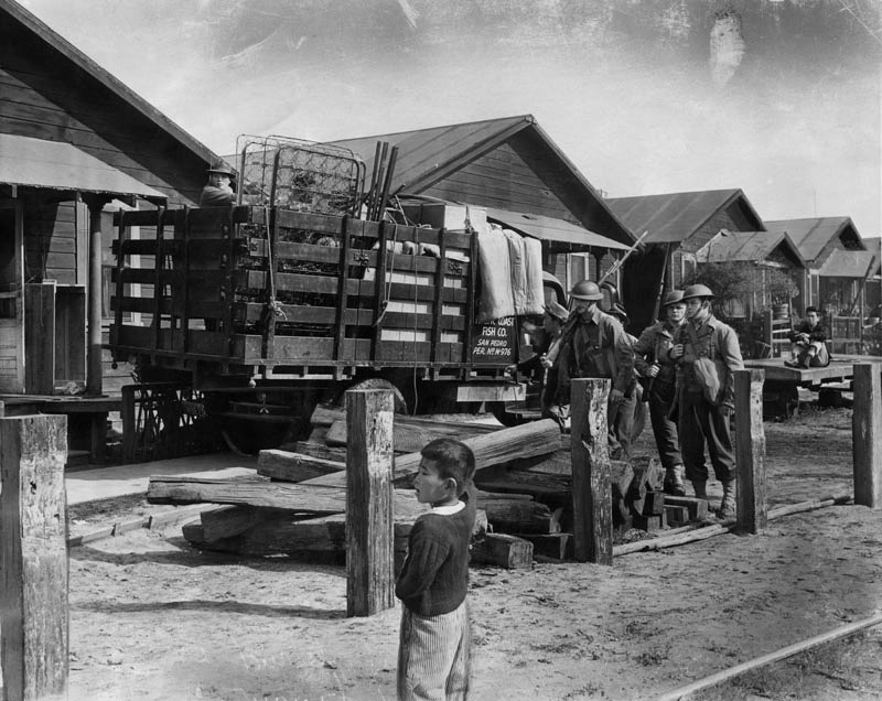 Fish Harbor, Terminal Island's Japanese American residents forcibly moved out in 1942 for internment shortly after Pearl Harbor. | Los Angeles Public Library