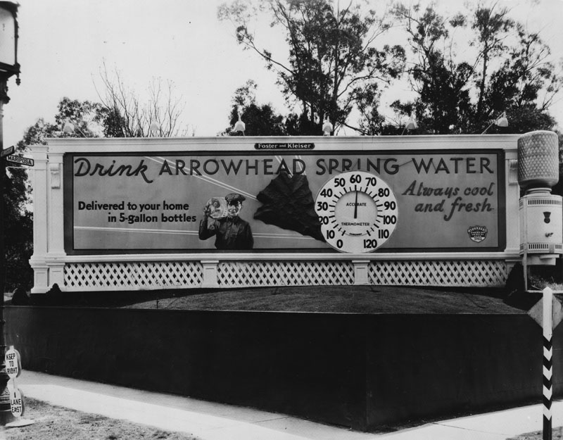 Undated photo of an Arrowhead Spring Water billboard