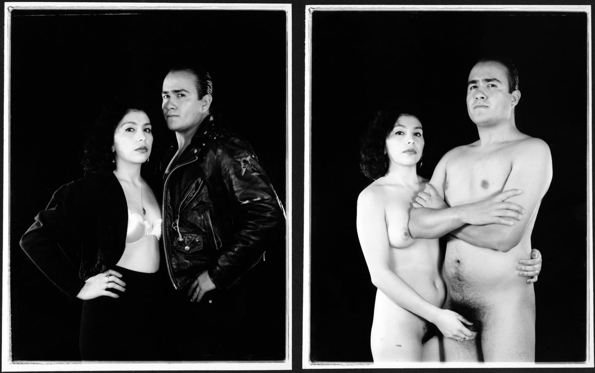 Laura Aguilar, Clothed/Unclothed #28 , 1994 | Courtesy of the artist and the UCLA Chicano Studies Research Center. © Laura Aguilar No Tresspassing AB s9