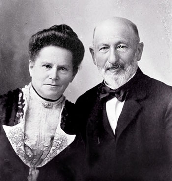 Sarah and Harris Newmark, ca. 1900