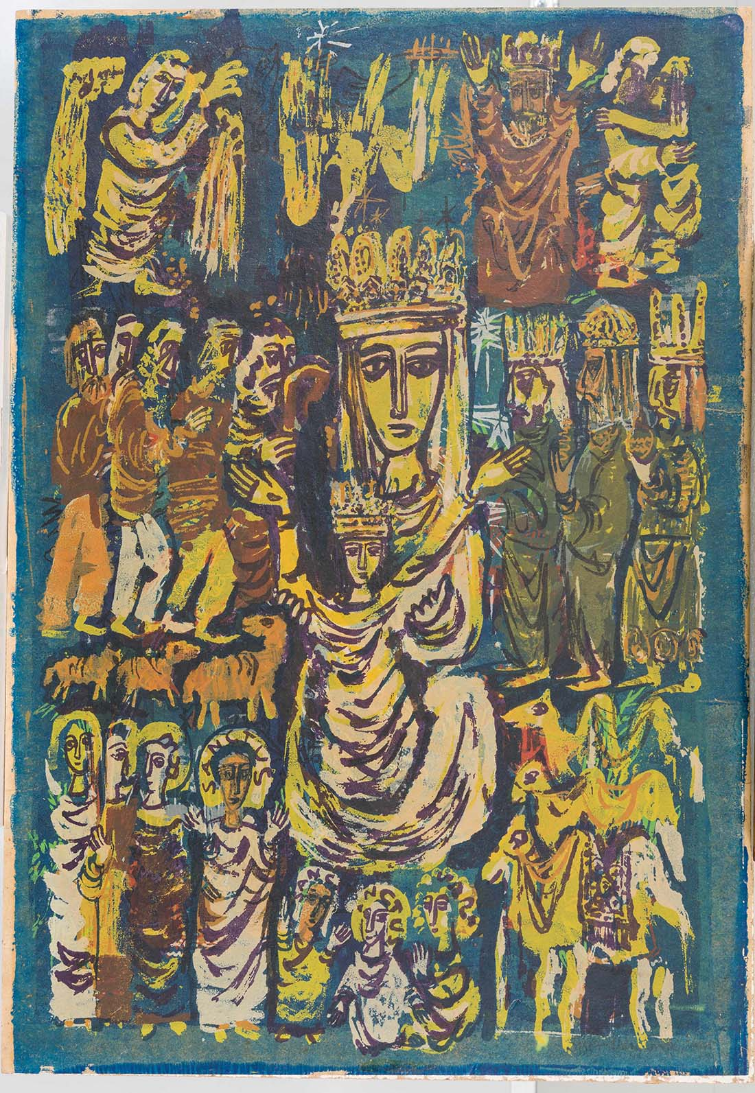 the lord is with thee, 1952 | Collection UCLA Grunwald Center for the Graphic Arts, Hammer Museum. Corita Kent Bequest.