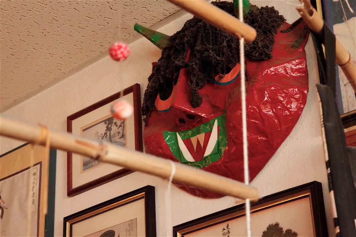Demon mask made by Yoshi dates back to opening of Daichan in 1996 | Mariko Lochridge