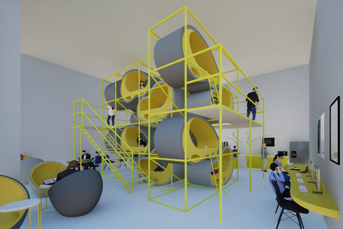 UCLA BruinHub, rendering (2020) | cityLAB UCLA and Marta Nowak (AN.ONYMOUS), with NT Tse, Anatoli Georgiadou