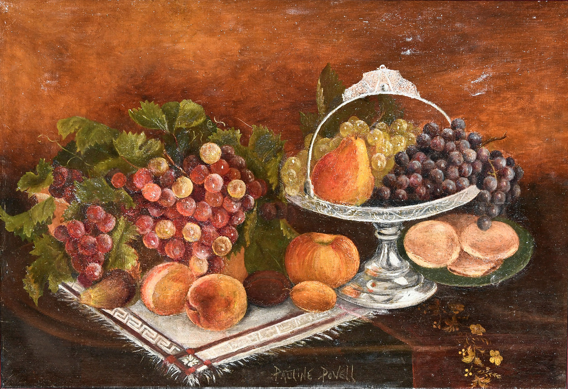 "Pauline Powell Burns, ""Untitled Still Life,"" c. 1890, oil on canvas"
