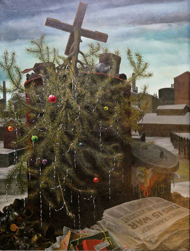 "Ruth Miller Kempster, ""Death of a Christmas Tree,"" 1941, oil on canvas."