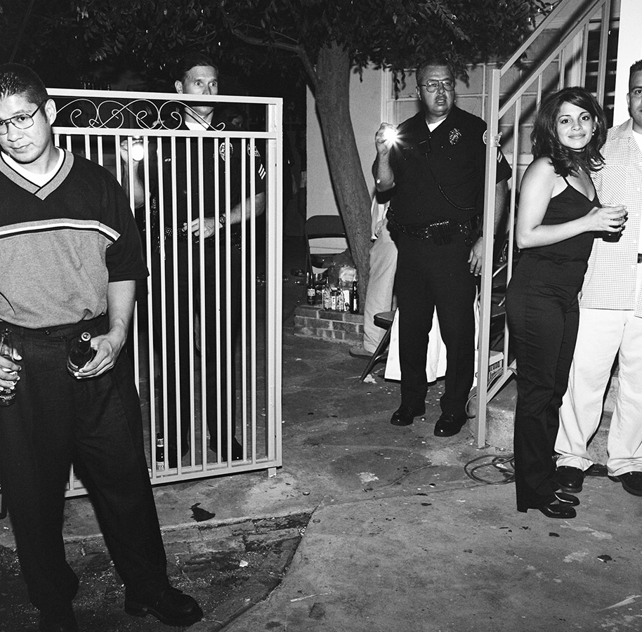 Police breaking up a Whittier party