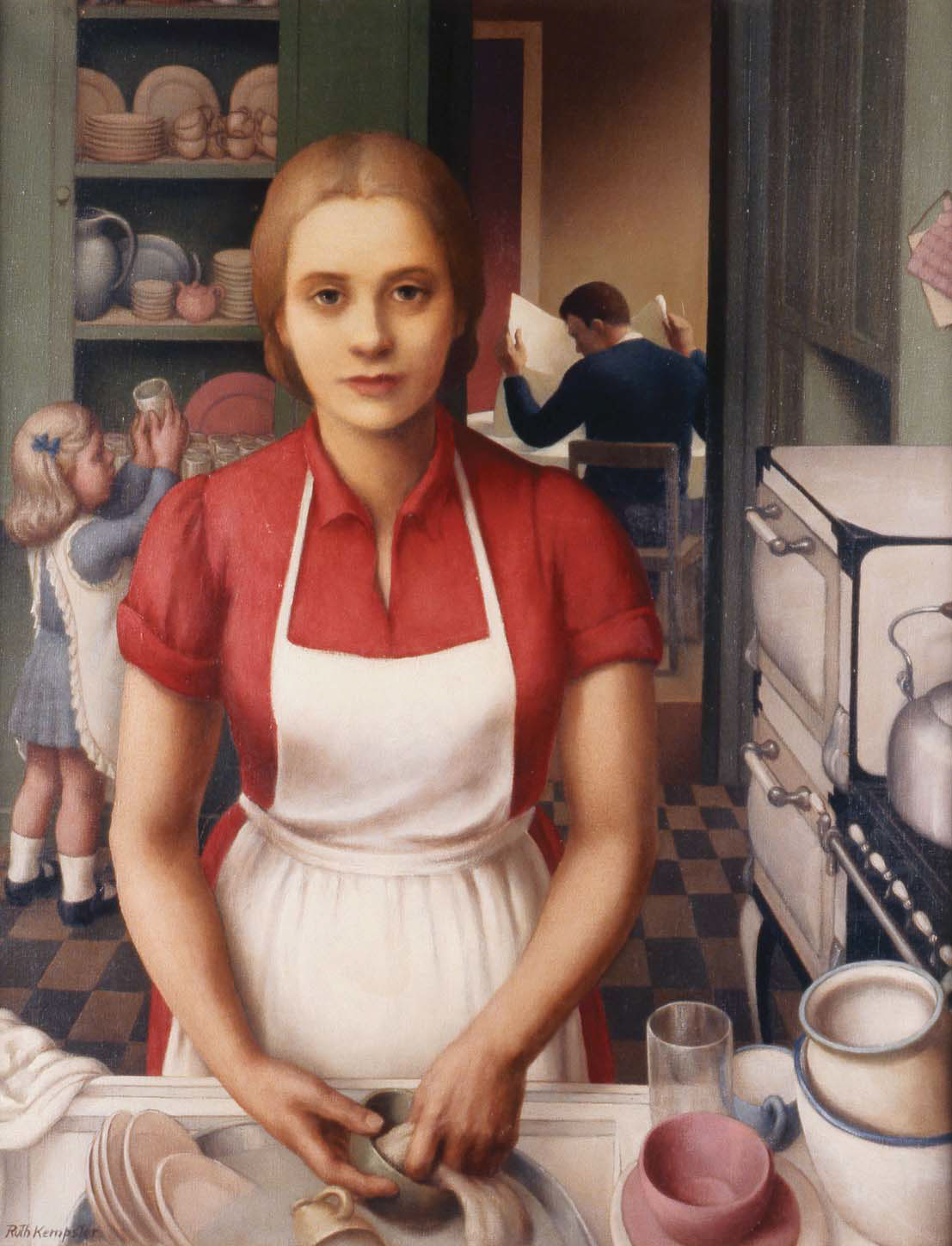 "Ruth Miller Kempster, ""Housewife,"" c.1935, oil on canvas"