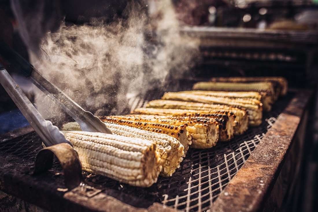 The Migrant Kitchen: Grilled corn at Mercado Olympic