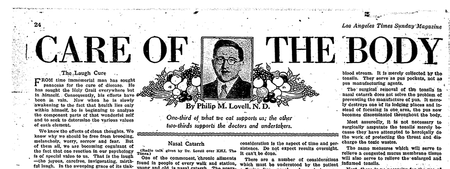 Philip Lovell's author photo published April 4, 1926 | The Los Angeles Times Historical Archive