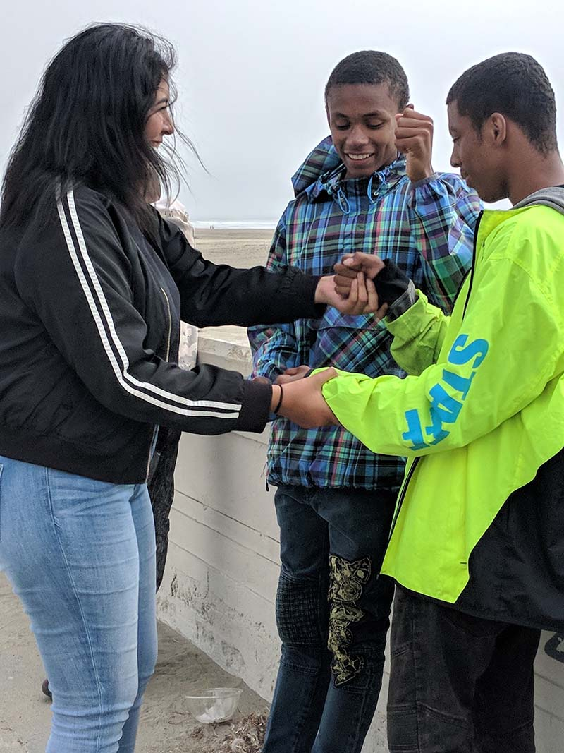 Californians for Justice youths are spending time with each other. | Californians for Justice