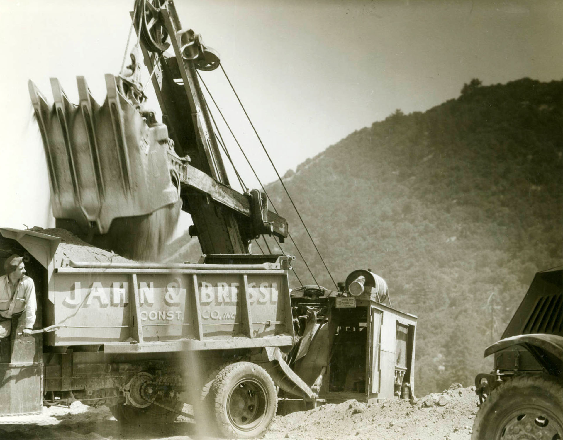 Angeles Crest Highway construction
