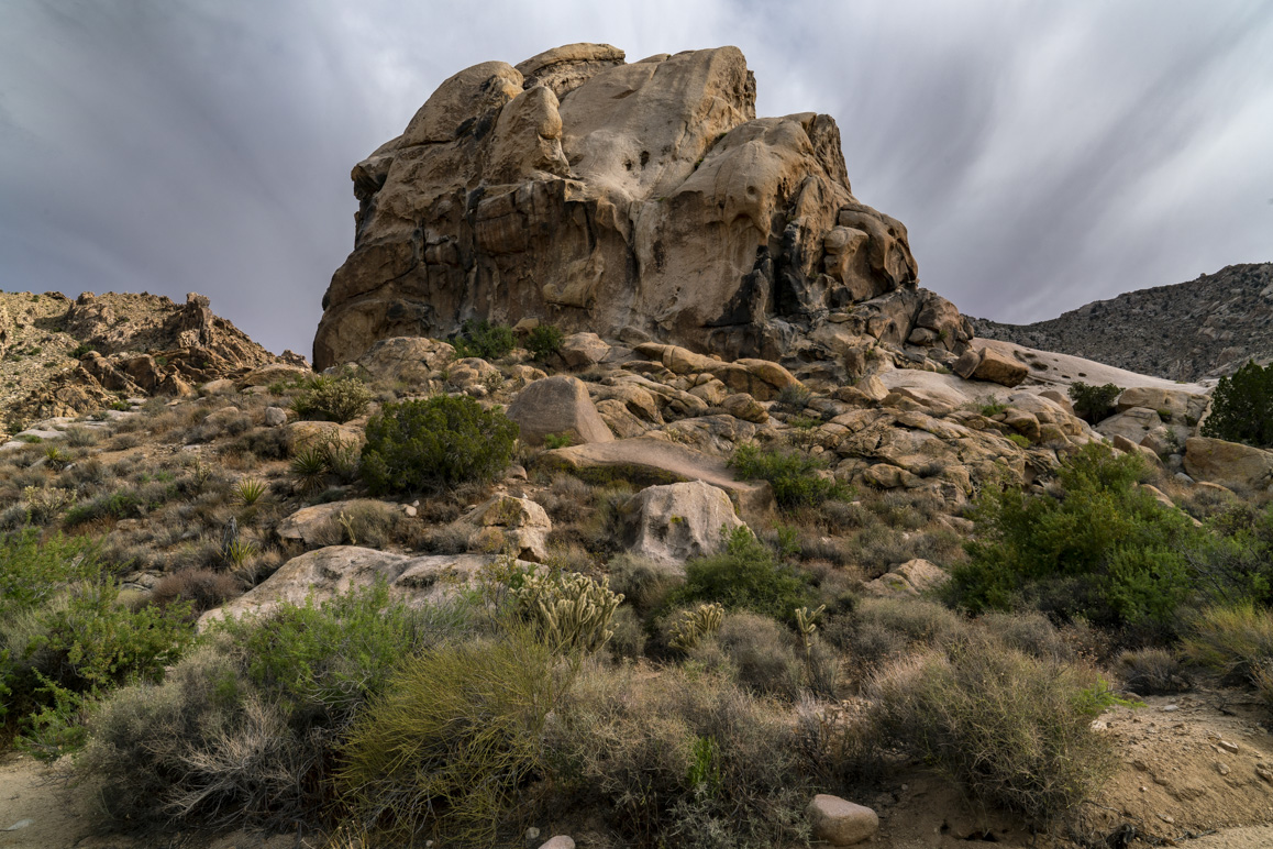 Painted Rock in the Old Woman Mountains Preserve is a significant Native American cultural site administered Native American Land Conservancy. Photo: Kim Stringfellow.
