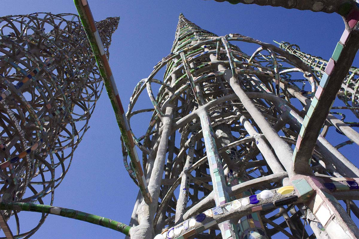 Watts Towers view from below, circa 2011 | Carren Jao