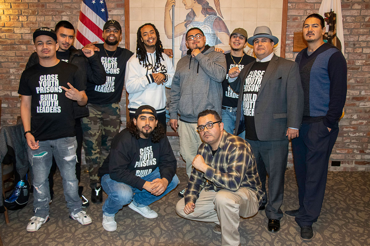 Daniel Mendoza with other members of Communities United Through Restorative Youth Justice (CURYJ) | Courtesy of Daniel Mendoza