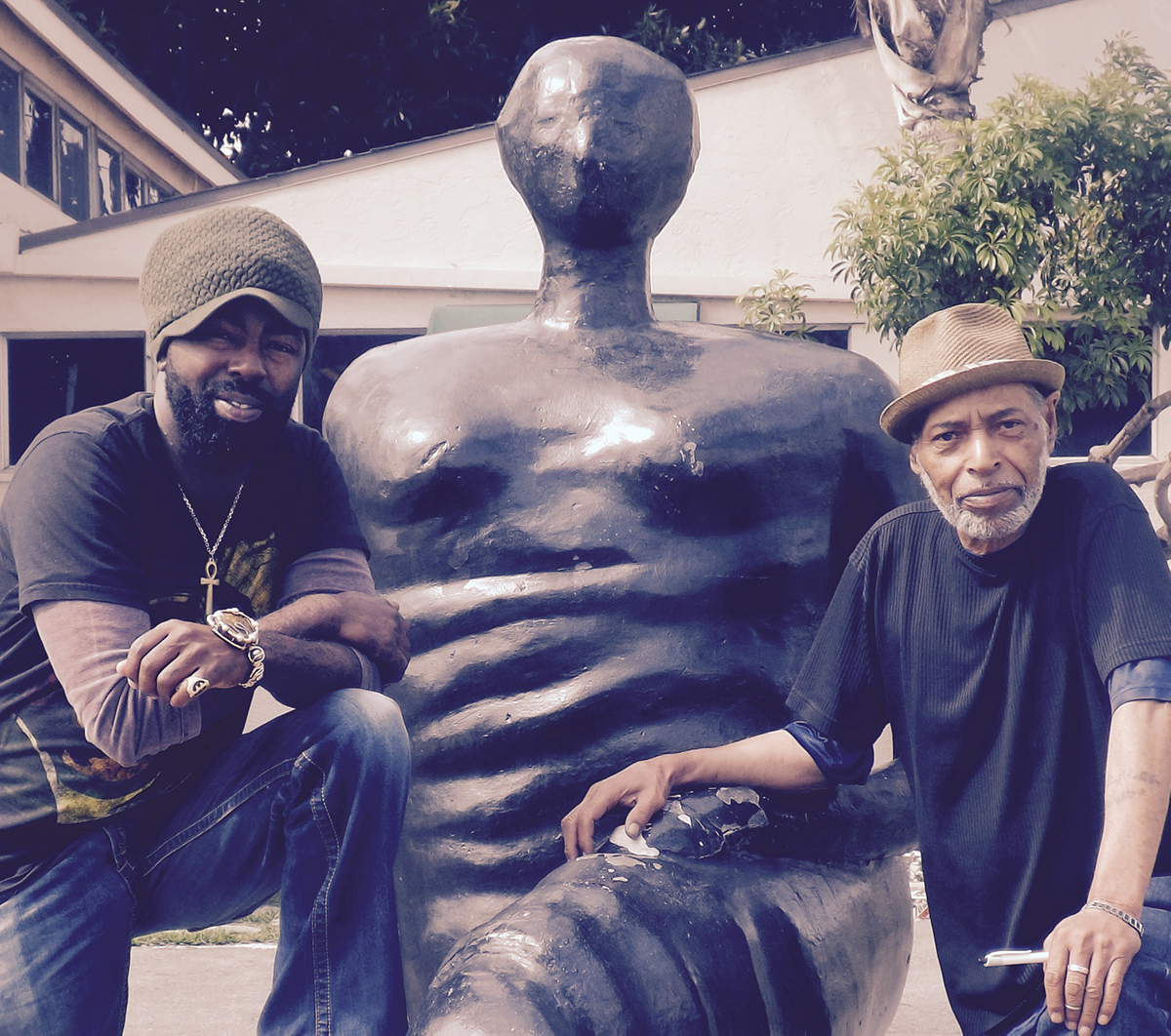 Father Amde Hamilton from the Watts Prophets on the right with MrFood4Thought | Courtesy of Still Waters Network