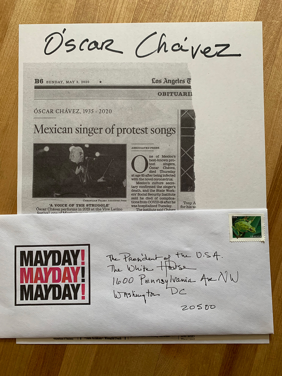 "Kaucyila Brooke's contribution to Susan Silton's ""Mayday! Mayday! Mayday!"" project   Courtesy of Susan Silton"