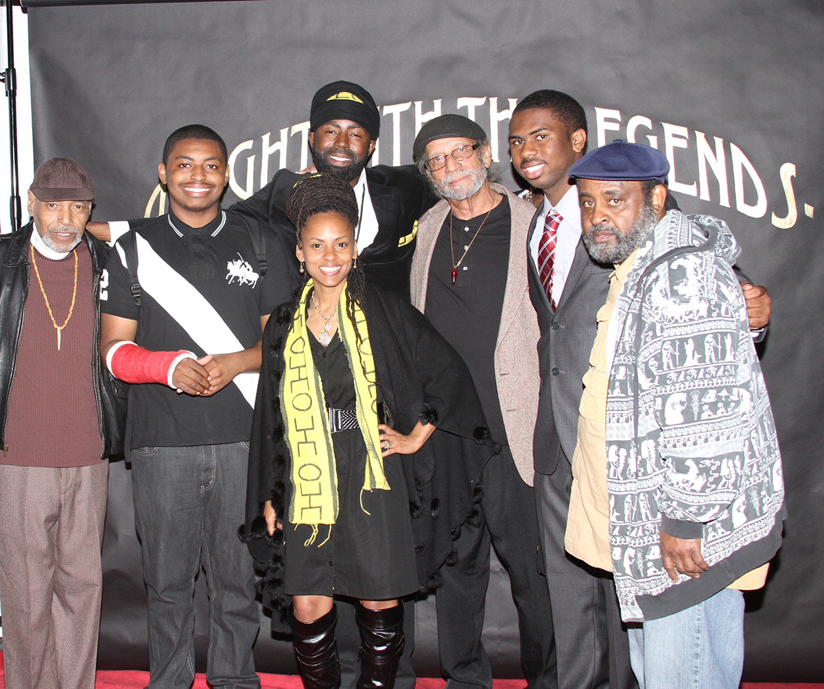 The Last Poets, the Watts Prophets, MrFood4Thought and Queen Socks along with their sons | Courtesy of Still Waters Network