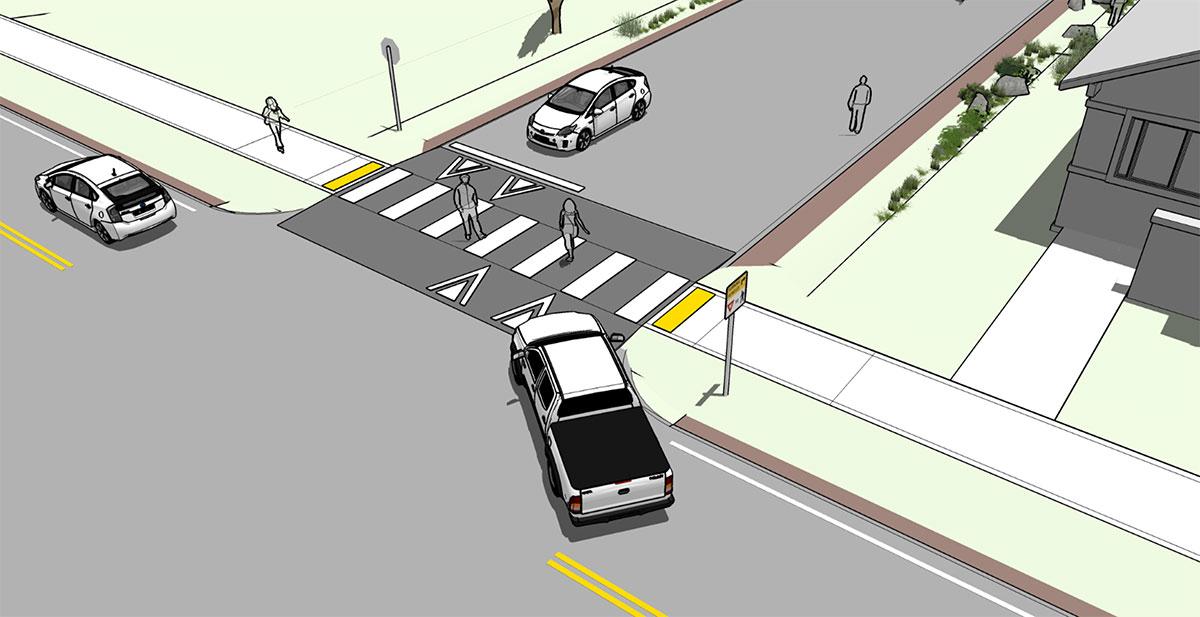 NDSC Pedestrian Raised Crosswalk Altaplanning Render