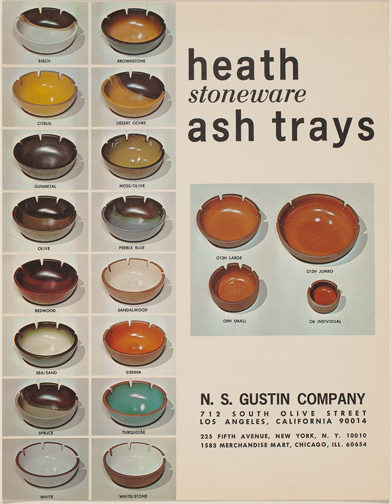 Brochure for Heath ashtrays | Courtesy of the Environmental Design Archives at UC Berkeley