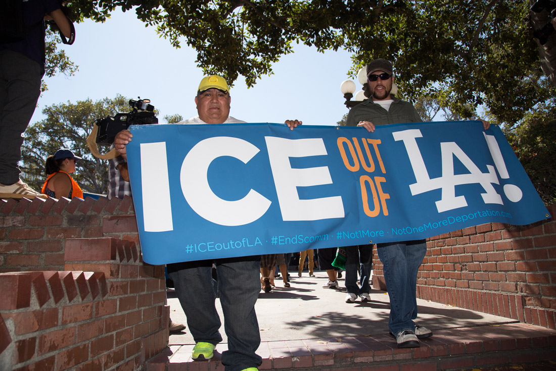 ICE Out of LA March