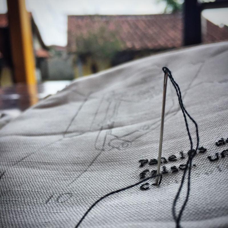 An embroidery in progress. | Photo: Heather Johnson.